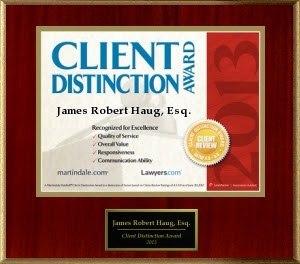 James Haug Client Distinction Award