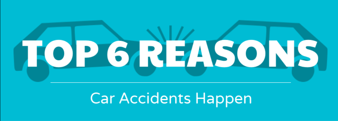 Top 6 reasons car accidents happen header