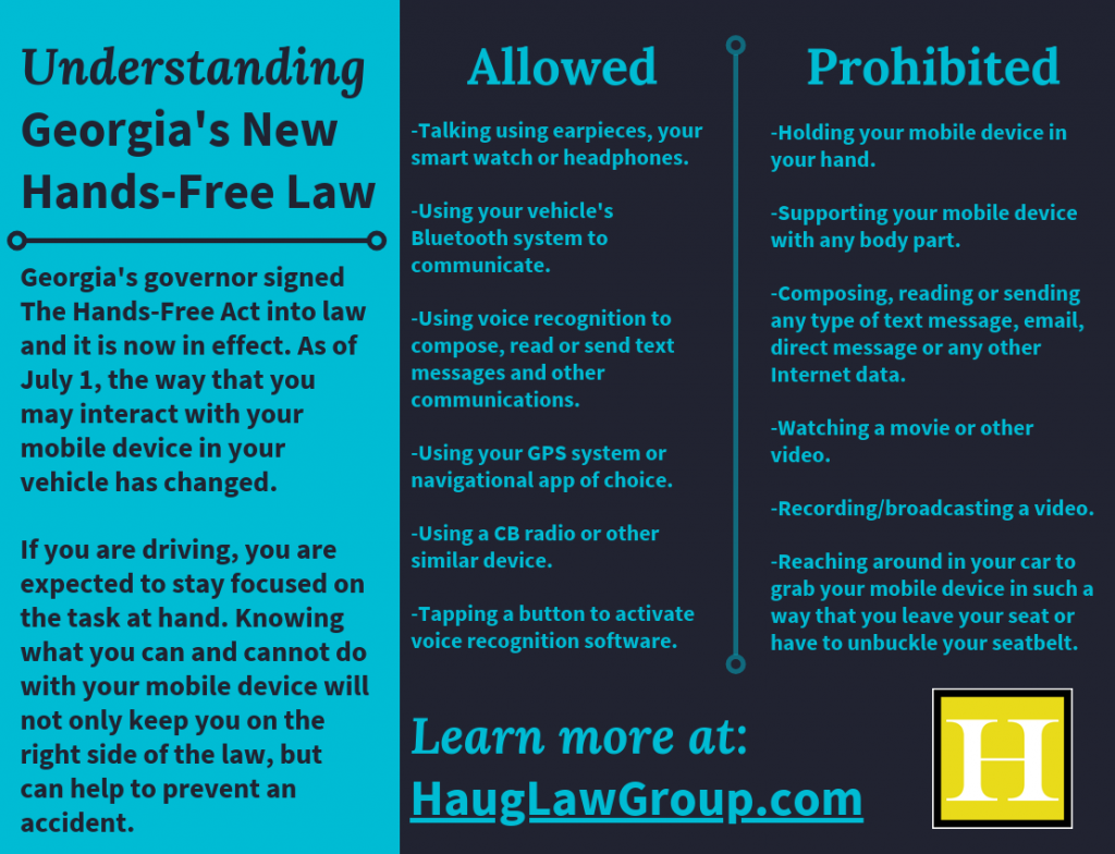 Understanding Georgia's New Hands-Free Law infographic