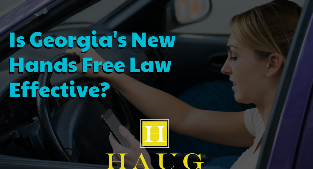 Is Georgia's New Hands Free Law Effective