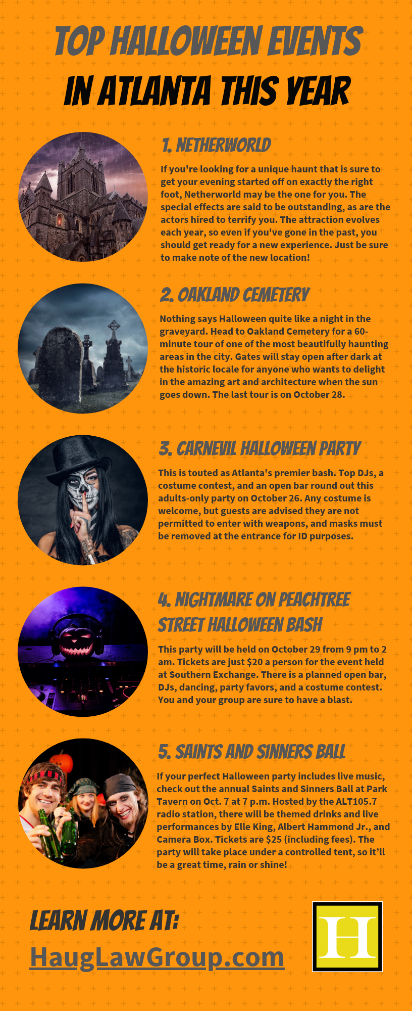 Top Halloween events in Atlanta This Year infographic